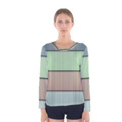 Lines Stripes Texture Colorful Women s Long Sleeve Tee