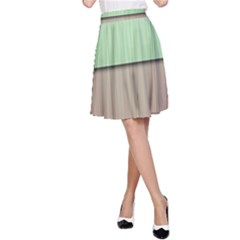 Lines Stripes Texture Colorful A-Line Skirt