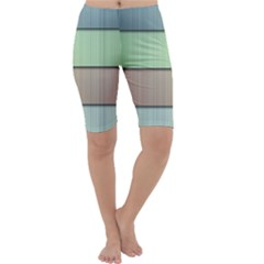 Lines Stripes Texture Colorful Cropped Leggings