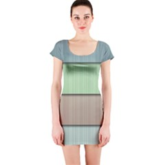 Lines Stripes Texture Colorful Short Sleeve Bodycon Dress
