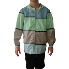 Lines Stripes Texture Colorful Hooded Wind Breaker (kids)