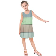 Lines Stripes Texture Colorful Kids  Sleeveless Dress