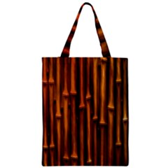 Abstract Bamboo Zipper Classic Tote Bag