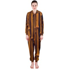 Abstract Bamboo Hooded Jumpsuit (ladies)
