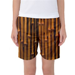 Abstract Bamboo Women s Basketball Shorts