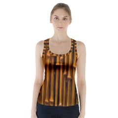 Abstract Bamboo Racer Back Sports Top