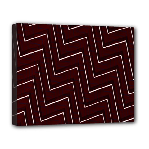 Lines Pattern Square Blocky Deluxe Canvas 20  x 16