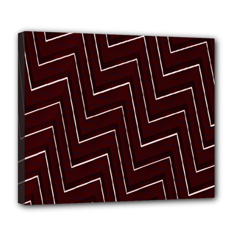 Lines Pattern Square Blocky Deluxe Canvas 24  x 20