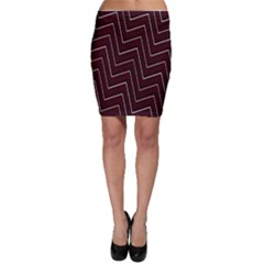 Lines Pattern Square Blocky Bodycon Skirt