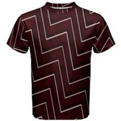 Lines Pattern Square Blocky Men s Cotton Tee