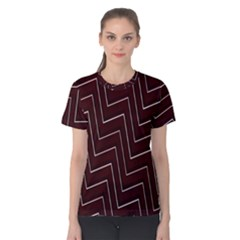Lines Pattern Square Blocky Women s Cotton Tee