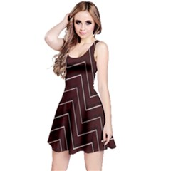 Lines Pattern Square Blocky Reversible Sleeveless Dress