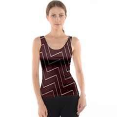 Lines Pattern Square Blocky Tank Top