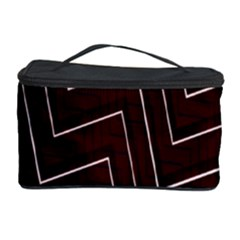 Lines Pattern Square Blocky Cosmetic Storage Case