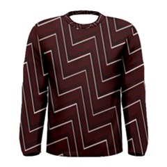Lines Pattern Square Blocky Men s Long Sleeve Tee