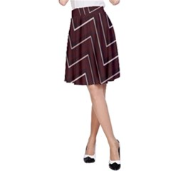 Lines Pattern Square Blocky A-Line Skirt