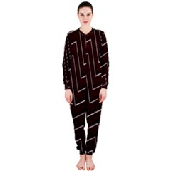 Lines Pattern Square Blocky OnePiece Jumpsuit (Ladies)