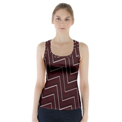 Lines Pattern Square Blocky Racer Back Sports Top