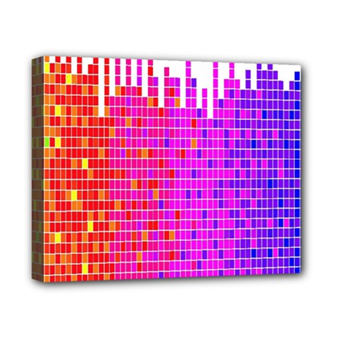Square Spectrum Abstract Canvas 10  x 8