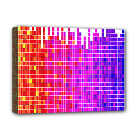 Square Spectrum Abstract Deluxe Canvas 16  X 12