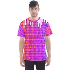Square Spectrum Abstract Men s Sport Mesh Tee