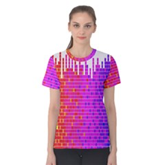 Square Spectrum Abstract Women s Cotton Tee