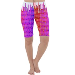 Square Spectrum Abstract Cropped Leggings