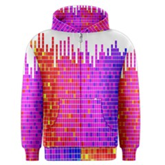 Square Spectrum Abstract Men s Zipper Hoodie