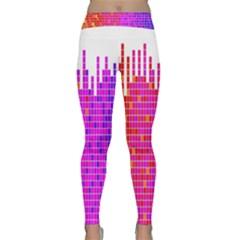 Square Spectrum Abstract Classic Yoga Leggings