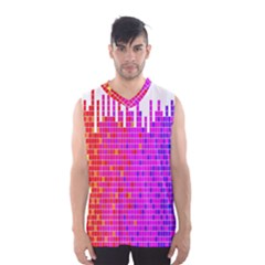 Square Spectrum Abstract Men s Basketball Tank Top