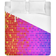 Square Spectrum Abstract Duvet Cover (california King Size)