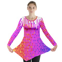 Square Spectrum Abstract Long Sleeve Tunic