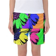 Flower Pop Sunflower Women s Basketball Shorts