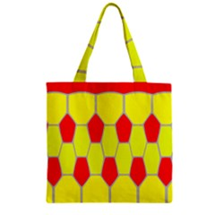 Football Blender Image Map Red Yellow Sport Zipper Grocery Tote Bag