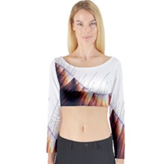 Abstract Lines Long Sleeve Crop Top