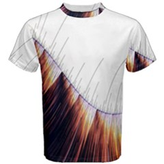 Abstract Lines Men s Cotton Tee