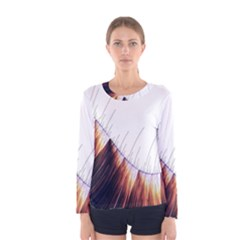 Abstract Lines Women s Long Sleeve Tee