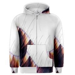 Abstract Lines Men s Zipper Hoodie
