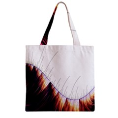 Abstract Lines Zipper Grocery Tote Bag