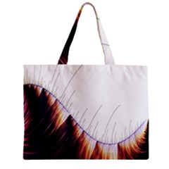 Abstract Lines Zipper Mini Tote Bag