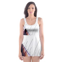 Abstract Lines Skater Dress Swimsuit