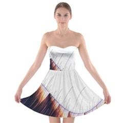 Abstract Lines Strapless Bra Top Dress