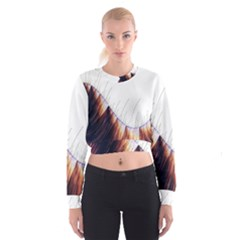 Abstract Lines Women s Cropped Sweatshirt