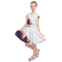 Abstract Lines Kids  Short Sleeve Dress