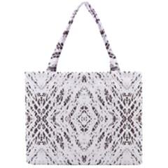 Pattern Monochrome Terrazzo Mini Tote Bag