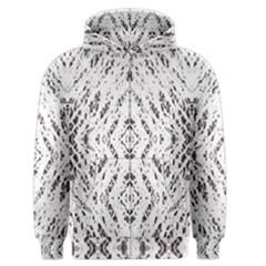 Pattern Monochrome Terrazzo Men s Zipper Hoodie