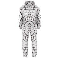 Pattern Monochrome Terrazzo Hooded Jumpsuit (Men)