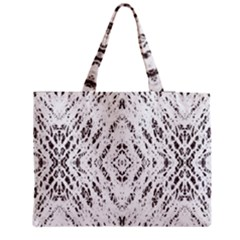 Pattern Monochrome Terrazzo Medium Tote Bag