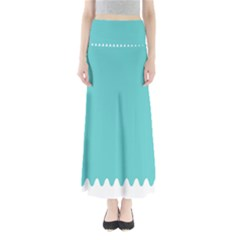 Grey Wave Water Waves Blue White Maxi Skirts
