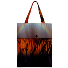 Rainbows Landscape Nature Zipper Classic Tote Bag